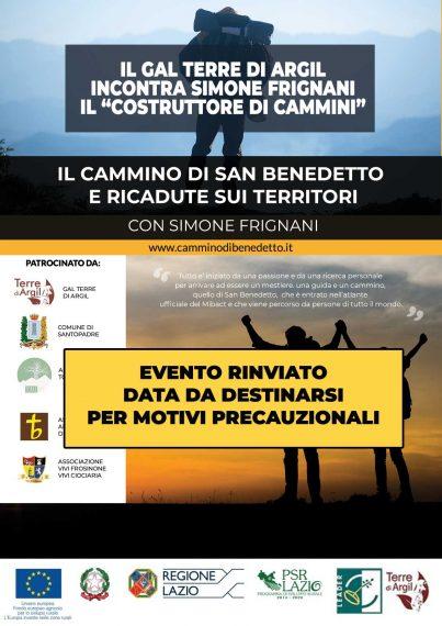 """[EVENTO RIMANDATO] Il GAL incontra Simone Frignani il """"Costruttore di Cammini"""" @ Santopadrea Ex Chiesa di Santa Maria"""