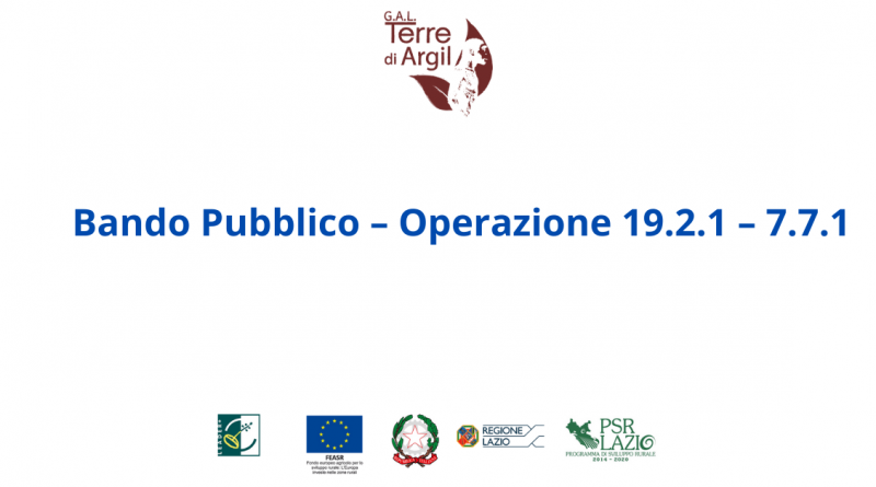 Bando Pubblico – Operazione –  19.2.1 – 7.7.1